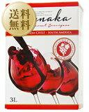 【送料無料】【包装不可】 ルナカ カベルネ ソーヴィニヨン (ボックスワイン) 3000ml×4本 赤ワイン 箱ワイン