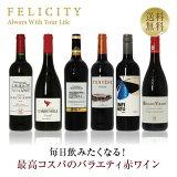 ワインセット 毎日飲みたい!最高コスパワイン バラエティ 赤ワイン 6本セット 第1弾 750ml×6 飲み比べ 赤 ワイン セット 【送料無料】【包装不可】