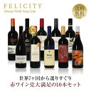赤ワイン選りすぐり パーティー10本セット 第8弾 750ml×10 飲み比べ 【送料無料】【包装不可】