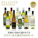 ワインセット 白ワイン 選りすぐり パーティー10本セット 第5弾 750ml×10 飲み比べ 白 ワイン セット 【送料無料】【包装不可】