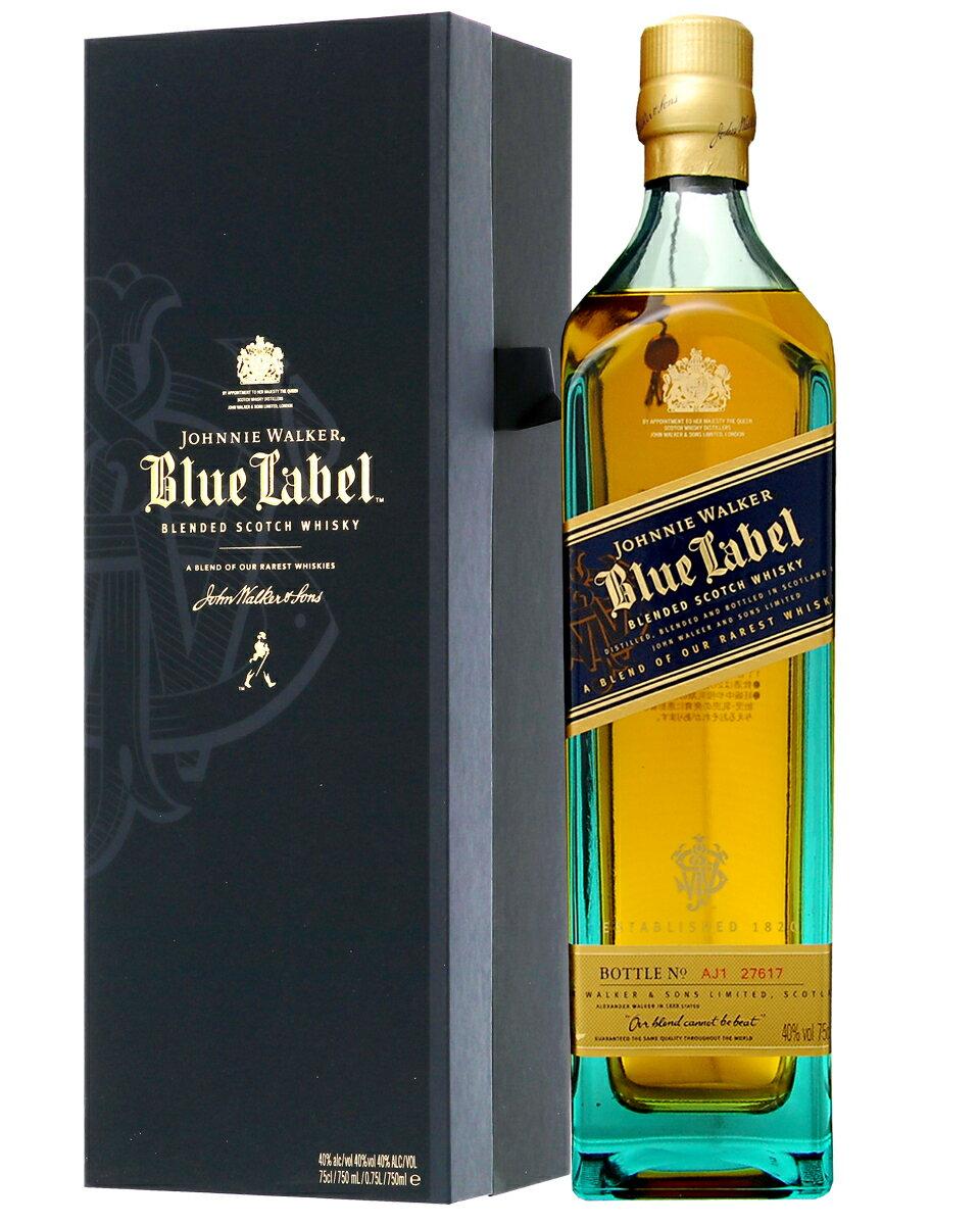 【並行】【あす楽】 シリアルナンバー付き ジョニーウォーカー ブルーラベル(青ラベル) 40度 箱付 750ml
