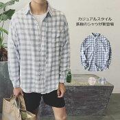 シャツ/メンズ/Tシャツ/メンズシャツ/チェックシャツ/カジュアルシャツ/長袖シャツ/コットンシャツ/ボタンシャツ/メンズファッション/トップス/ブロックチェック/きれいめ/アウトドア系/細身/シンプル