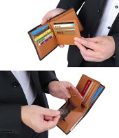 [レガーレ]カーボンレザー二つ折り財布大容量でカードたくさん入る財布メンズレディース本革5色(オリジナル化粧箱入り)コインケース小銭入れ送料無料