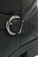 ウニーサ/UNISA/DULA/ベルト付き/レザー/エンジニア/ショートブーツ/ヒール4.0/ブラック