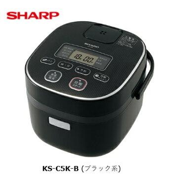シャープ ジャー炊飯器 KS-C5K-B ブラック系 3合
