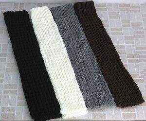 4色セットで465円、1足あたり116円、超お買い得♪ LW7008 ふっくらケーブル編みレッグウォー...