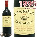 クロ・デュ・マルキ[1995] 赤ワイン/辛口/フルボディ[750ml]レオヴィル・ラス・カーズ・セカンド・ラベルClos du Marquis 1995Leoville Las Cases Second Label