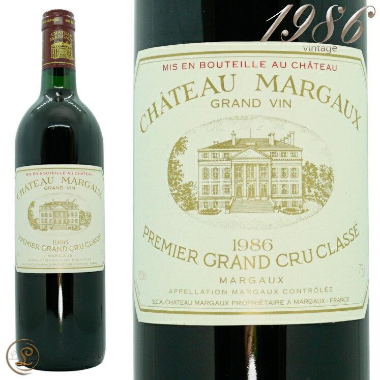 ワイン, 赤ワイン  1986 1 750mlChateau Margaux 1986Margaux 1er Grand Cru Classe Medoc