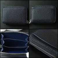 MAISONTAKUYA(メゾンタクヤ)ラウンドジップミニウォレット(財布)ミッドナイトブルー×ミッドナイトブルー-TT-3COIN-CASE