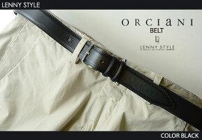 ORCIANI(オルチアーニ)ベルト-ブラック