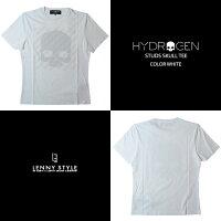 HYDROGEN(ハイドロゲン)スタッズスカル半袖Tシャツ(STUDSSKULLTEE)ホワイト
