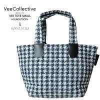 VeeCollective(ヴィーコレクティブ)トートバッグ・Sサイズ-千鳥柄プリント(veetotesmall)