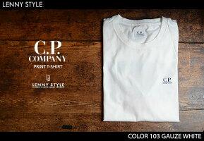 CPカンパニー(シーピーカンパニー)(C.P.COMPANY)プリント半袖Tシャツ(カットソー)-GAUZEWHITE(ホワイト)
