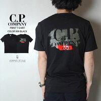 CPカンパニー(シーピーカンパニー)(C.P.COMPANY)プリント半袖Tシャツ(カットソー)-BLACK(ブラック)