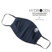 ハイドロゲン(HYDROGEN)マスク(マウスカバー)-ネイビーストライプ(スカルプリント)