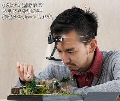 非球面ヘッドルーペハード&マルチコート加工LEDライト付【HD-800YG-LED】軽量ワイヤーバンド東京セイルDo-SeeMadeinJapan(日本製)