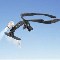 超軽量LEDライト付ヘッドルーペ(フレーム型)