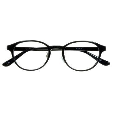 【2970円の眼鏡セット CLASSIC 度付きメガネ】AL327-4 BK