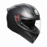 AGVK1(K-1)ヘルメットマットブラックSG規格(返品交換不可商品)(日本代理店正規品)(欠品あり次回入荷予定2018年11月以降)