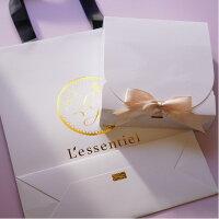 【ギフト用梱包】プレゼント贈り物ギフトボックス箱リボン紙袋手提げショッパーロゴ高級感ホワイトアロマハーブ雑貨母の日敬老の日