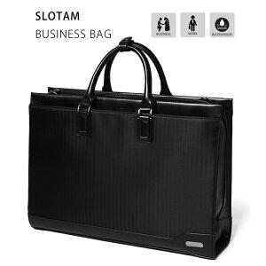 【送料無料】SLOTAM ビジネスバッグ メンズ ブラック PCバッグ A4対応 防水 15.6インチ 就活 仕事 通勤