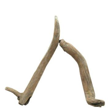 変形流木棒50cm未満の2本セット a400 DIY園芸インテリア店舗ディスプレイや撮影用に 、そのまま使えるきれいに処理された流木棒素材。 【送料無料】