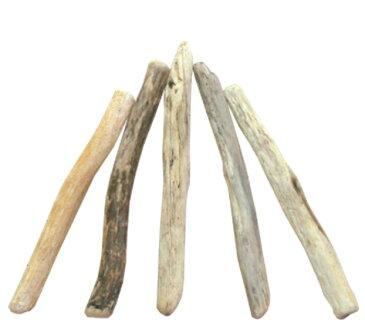 流木棒50cm未満の5本セット a425 DIY園芸インテリア店舗ディスプレイや撮影用に 、そのまま使えるきれいに処理された流木棒素材 【送料無料】