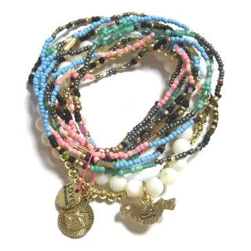 【いろんな種類がセット】CAT HAMMILL お洒落なブレスレットセット 沢山の種類のブレスレットとチャームがぶら下がっているチャーム付きアクセサリー キャットハミル オーストラリア multi colored coco bracelet set かわいいブレスレット ブレスレッド 海外 ブランド
