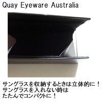 QuayEyewareAustraliaキーアイウェアオーストラリア可愛いサングラス用ケース特製ハードケースHARDCASEサングラスケースハード黒メガネ眼鏡入れおしゃれサングラスハードケースブラックメガネケーススリム折りたたみグラサンケース海外ブランド