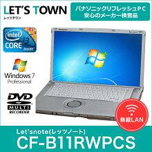 ��ťΡ��ȥѥ�����PanasonicLet'snote(��åĥΡ���)CF-B11RWPCS(Corei3/̵��LAN/A4������)Windows7Pro��ܥ�ե�å���PC����šۡ�A���