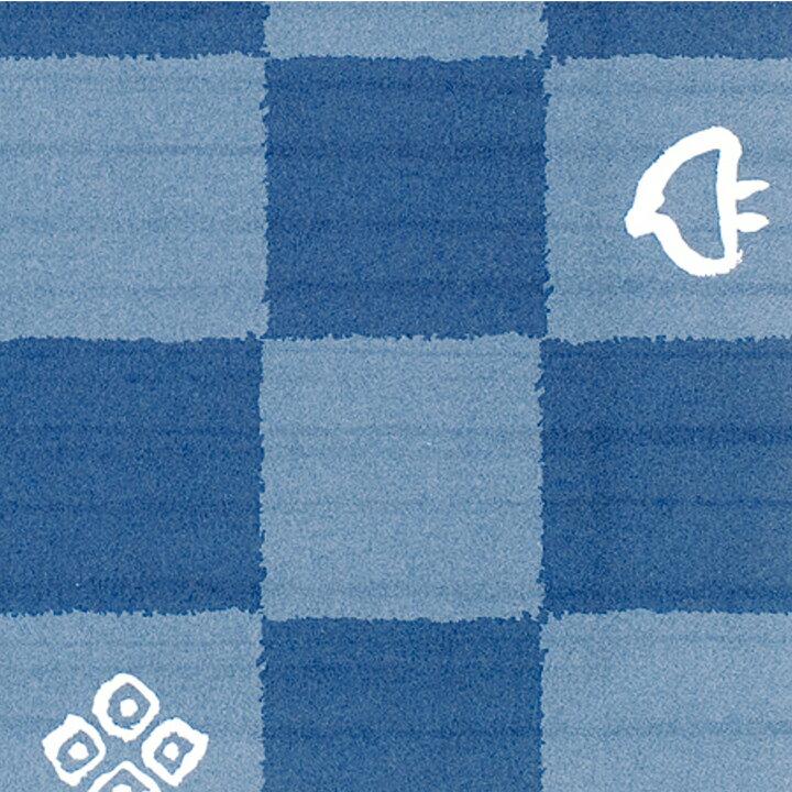 【ラッピング】包装紙 藍市松