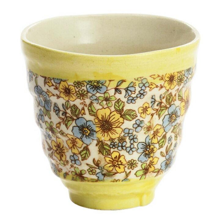 花あしらいカップ イエロー単品 湯呑 カップ コップ 結婚祝い 出産祝い 内祝い 御祝 新生活 仏事 誕生日 プレゼント アウトレット 敬老の日