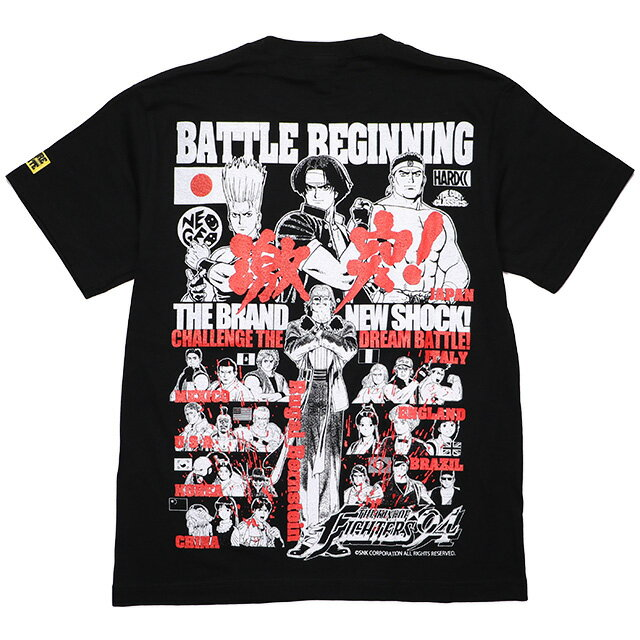 トップス, Tシャツ・カットソー () HARDCORE CHOCOLATE -THE KING OF FIGHTERS 94- (KOF94)(SS:TEE)(T-879-BK) T SNK NEOGEO