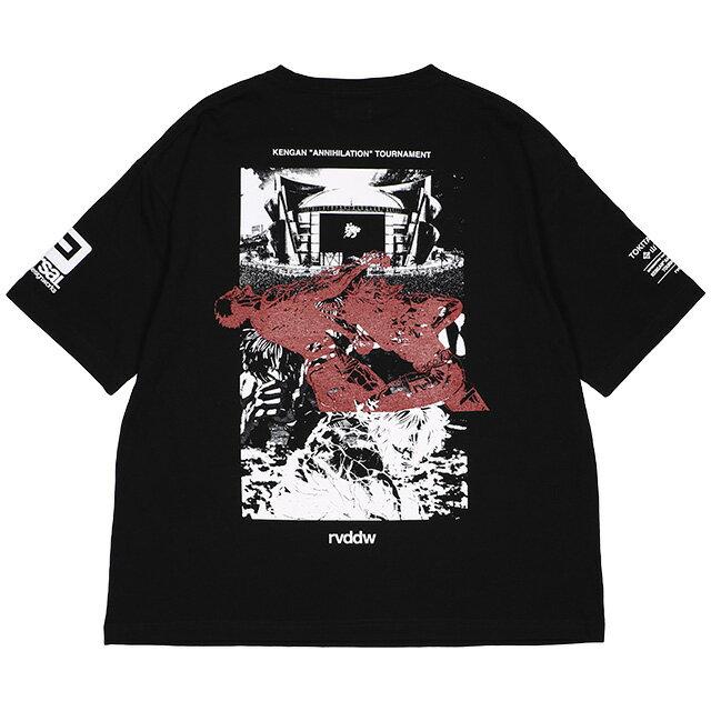 トップス, Tシャツ・カットソー () REVERSAL KENGAN ZETSUMEI TOURNAMENT BIG SILHOUETTE TEE (SS:TEE)(rvka002-BK) T