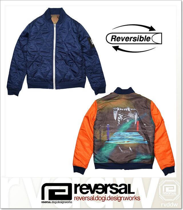 (リバーサル) REVERSAL FANGS JACKT (JACKET)(rv18aw003-NV×OR) ジャケット リバーシブルジャケット ナイロン 国内正規品