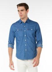Levi's Orange Tab Shirt 29519: 0000 Baby Blue Denim