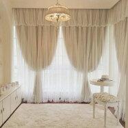 Leyカーテンレース付きドレープカーテン遮光カーテンオーダーカーテンおしゃれ可愛いサイズ幅110〜155cm×丈50〜260cmまでエステサロン、リビング、子供部屋、寝室に合うタイプ