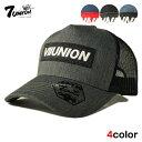セブンユニオン 7UNION メッシュキャップ スナップバック 帽子 メンズ レディース デニム フリーサイズ [ あす楽 ] [ gy bk nv ]