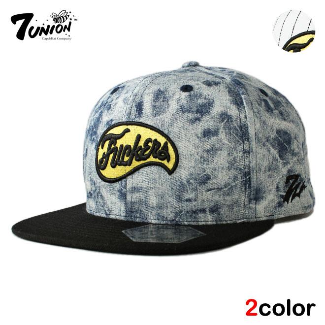 メンズ帽子, キャップ  7UNION wt bl ptn