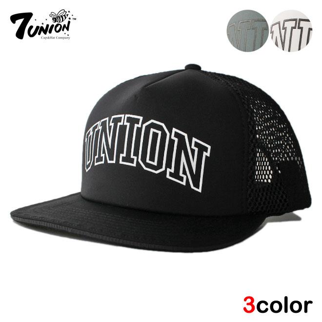 セブンユニオン 7UNION メッシュキャップ スナップバック 帽子 メンズ レディース リフレクター フリーサイズ [ あす楽 ] [ wt gy bk ]