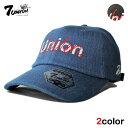 セブンユニオン 7UNION ストラップバックキャップ 帽子 メンズ レディース デニム フリーサイズ [ あす楽 ] [ bk nv ]