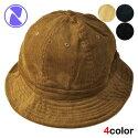 ニューハッタンボーラーハットバケットハット帽子メンズレディースNEWHATTAN無地シンプルコーデュロイS/ML/XL[bknvlbwbn]