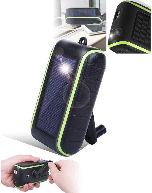 【公式】Chargi-Q®mini(チャージックミニ)ソーラーチャージャーモバイルバッテリー大容量手回し充電器太陽光発電【保護ケース・日本語マニュアル付き】(8,000mah)