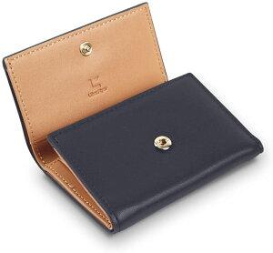 【公式】Minilett(ミニレット) コインポケットが付いた極小 ミニ財布 コインケース ミニ 財布 カード入れ カードケース カード入れ メンズ (ネイビーブルー)