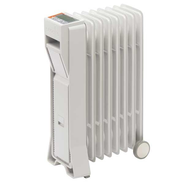 eureks ユーレックスオイルヒーター 1200W [LFX8BH(IW)]アイボリーホワイト LEDライト 最大8畳 簡単操作 エコ ECO 日本製 [あたたかグッズ]