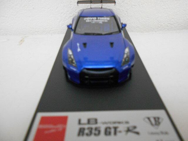 アイドロン 1/43 LB WORKS R35 GT-R / LB PERFORMANCE 20in. Wheel メタリックブルー メイクアップ