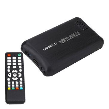 メディアプレイヤー HDMI 赤黄白 AVケーブル 出力 HDD USB3.0 SD 2.5インチSATA内蔵可・外部IDEタイプHDD 対応 ビデオ 上映会 結婚式 ◇FAM-HDMD200N