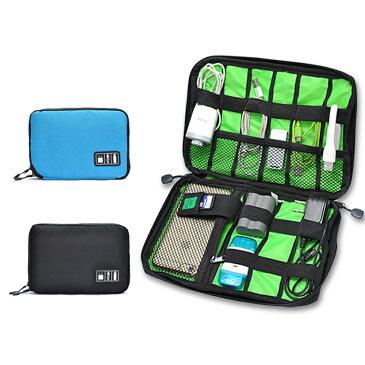 モバイルアクセサリー 収納ケース ポーチ インナーバッグ ソフトケース USBメモリ収納 充電ケーブル収納 多機能メッシュ整理袋 ◇FAM-SND001【メール便】