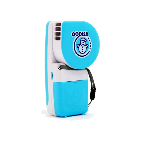 水冷 ハンディ ミニファン 小型 冷風扇 手持ち デスク 卓上 扇風機 ポータブル 暑さ対策 電池式 単3電池x4 USB給電式 猛暑対策 冷却 【夏用品】 ◇FAM-SK-C01