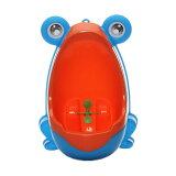 楽しく トイレトレーニング おまる 男の子 カエル かえるトイレ 男の子用 オマル 小便器 取外し可能 可愛い カエル型 練習 子供用 ◇FAM-CR-20